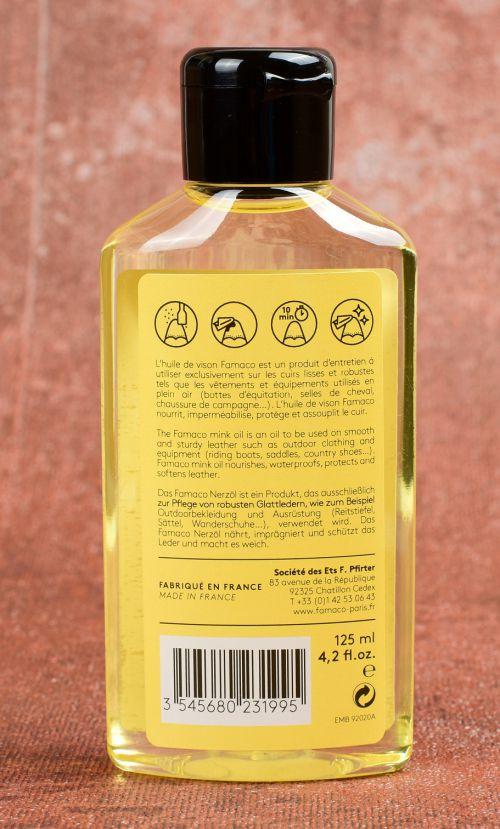 Norkový olej impregnace vysušená kůže