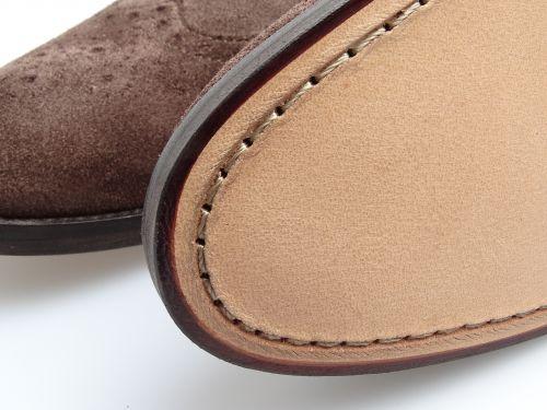 kožená podrážka, péče o boty, čištění bot