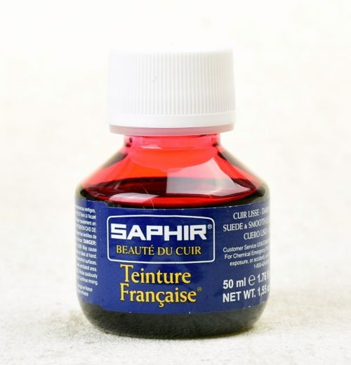 Barva na kůži Saphir Teinture francaise