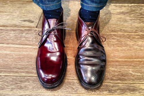 Cordovan shoe polish